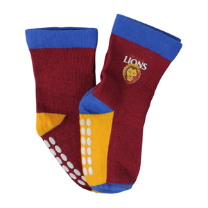 Brisbane Lions Baby Socks 2 Pack Size:00-1 (0-6 months)