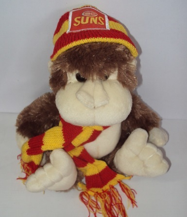 Gold Coast Suns Monkey with Scarf & Beanie