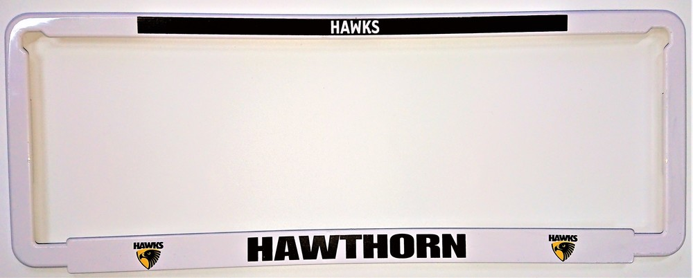 Hawthorn Hawks Car Number Plate Surrounds