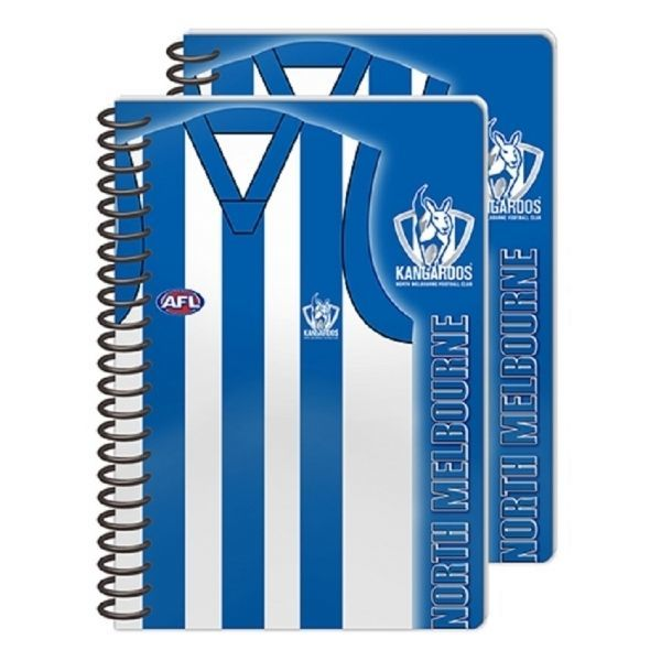 North Melbourne Kangaroos Wire Bound A5 Notebooks