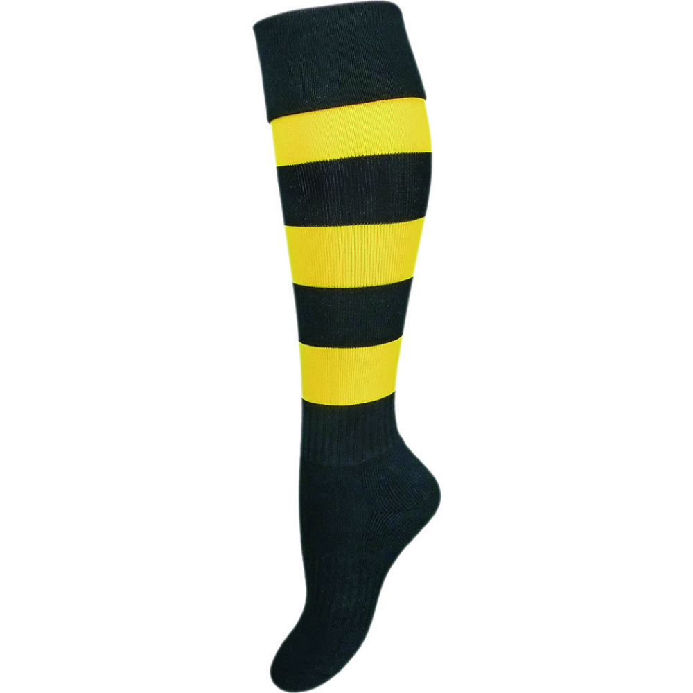 Richmond Tigers Kids Football Socks Size:Boys (13-3)