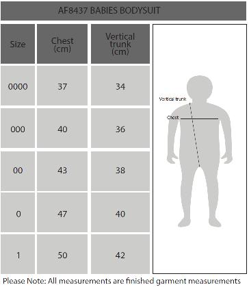 Babies Romper Size Chart