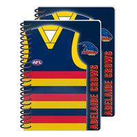 Adelaide Crows Wire Bound A5 Notebooks