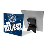 Carlton Blues Mini Glass Clock