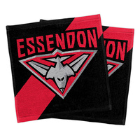Essendon Bombers Face Washers Set of 2