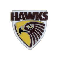 Hawthorn Hawks Logo Metal Pin Badge