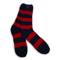 Melbourne Demons Fluffy Bed Socks