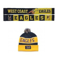 West Coast Eagles VIP Scarf & Beanie Special Deal