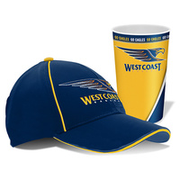 West Coast Eagles Cap & Tumbler Gift Pack