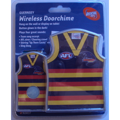 Adelaide Crows Guernsey Shaped Door Chime