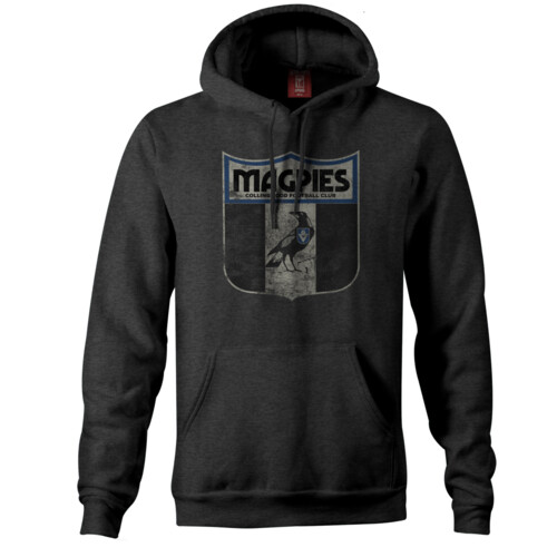 Collingwood Magpies Mens Retro Hoodie Size:S