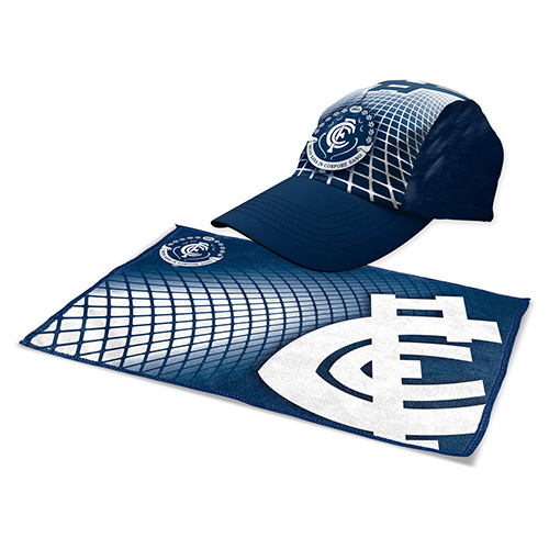 Carlton Blues Cap & Gym Towel Sports Pack