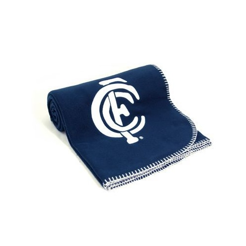 Carlton Blues Polar Fleece Throw Rug