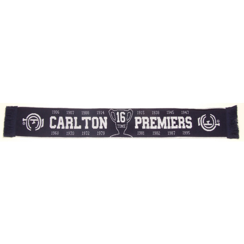 Carlton Blues Premierships Scarf