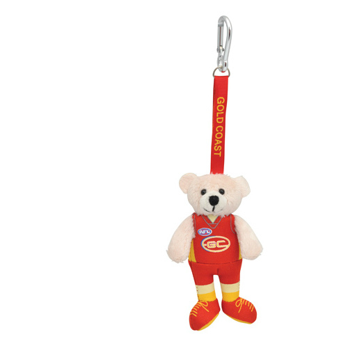 Gold Coast Suns Beanie Bear Bag Tag