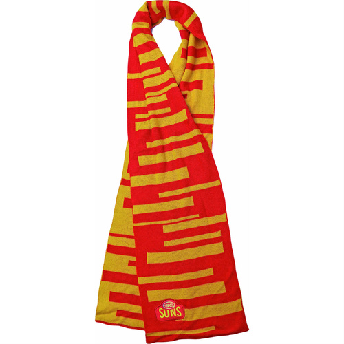 Gold Coast Suns Key Stripe Scarf