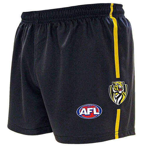 Richmond Tigers Mens Logo Footy Shorts Size:S