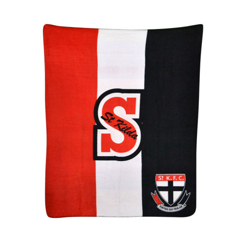 St Kilda Printed Polar Fleece Throw Rug