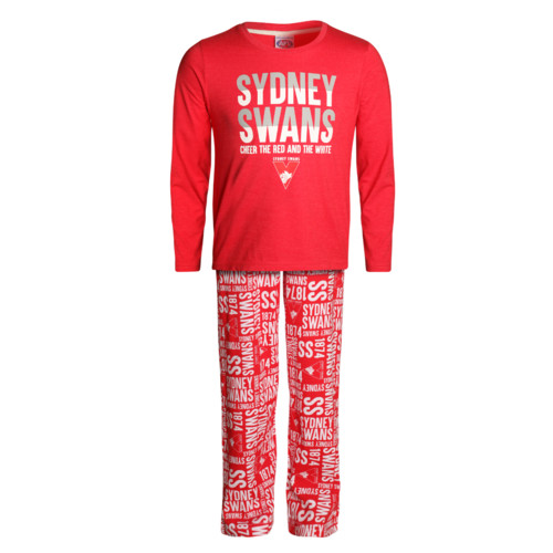 Sydney Swans Youths Sleepwear Set Size:10