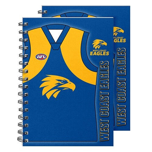 West Coast Eagles Wire Bound A5 Notebooks