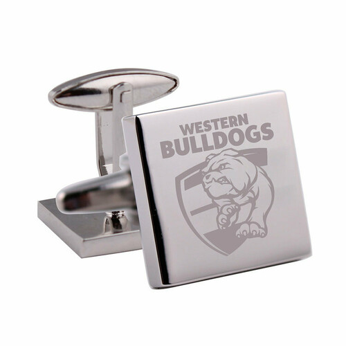 Western Bulldogs Silver Etched Cufflinks
