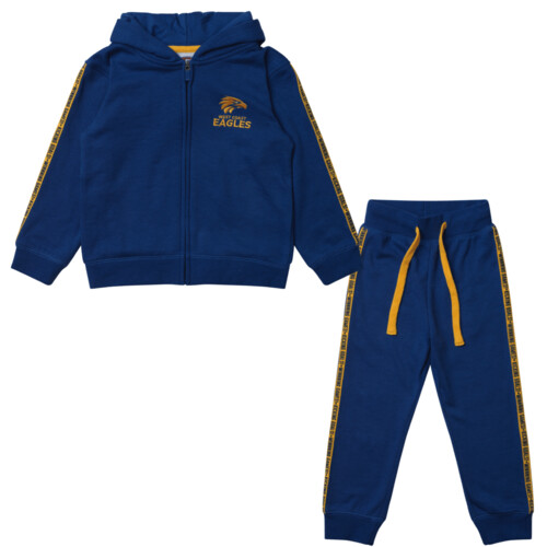 West Coast Eagles Toddlers Tracksuit Set Size:2